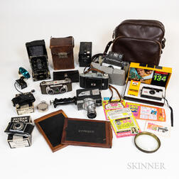 Group of Vintage Cameras and Photography Equipment