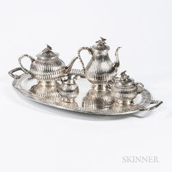 Five-piece Mexican Sterling Silver Tea and Coffee Service