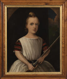 Attributed to James R. Scott, R.S.A. (British, active 1854-1871), Portrait of a Boy Holding a Rifle, Said to be Alexander Duff Leadbett