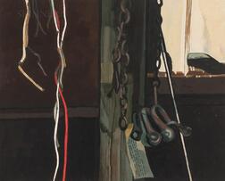 John Laurent (American, 1921-2005)      Barn Interior