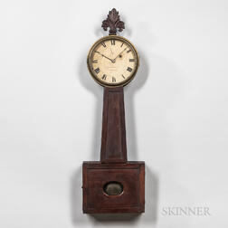 "Aaron Willard Jr. Wood-front Patent Timepiece or ""Banjo"" Clock"