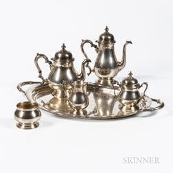Six-piece International Sterling Silver Tea and Coffee Service