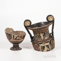 Ancient Greek/South Italian Red-figure Volute Krater