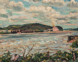 David Davidovich Burliuk (Ukrainian/American, 1882-1967)      Seascape