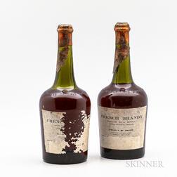 French Brandy, 2 4/5 quart bottles