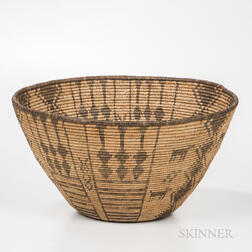 Large Apache Pictorial Coiled Basket