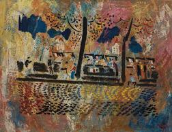 Vytautas Kasiulis (Lithuanian, 1918-1995)      Les Bouquinistes de Paris
