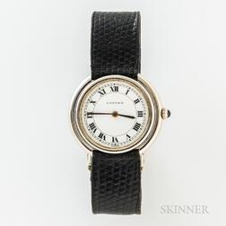 """Cartier 18kt White Gold """"Paris Vendome"""" Wristwatch"""