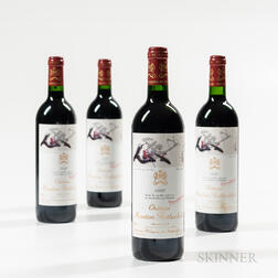 Chateau Mouton Rothschild 1996, 4 bottles