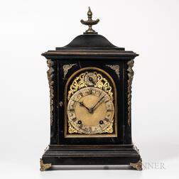Winterhalder & Hofmeier Quarter-striking Ebonized Bracket Clock