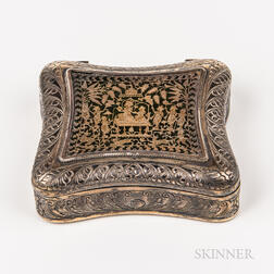Gold, Colored Glass, and Gilt-silver Box