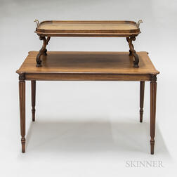 Chippendale-style Mahogany Two-tier Server