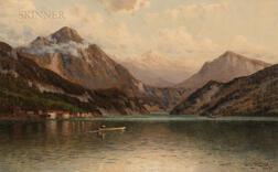 George W. Waters (American, 1832-1912)      Lake Maggiore