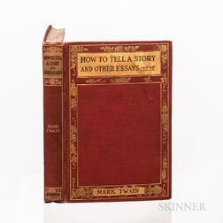 Twain, Mark (1835-1910) How to Tell a Story