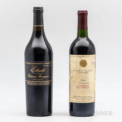 Napa 1990 Cabernet, 2 bottles