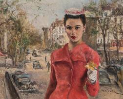Pál Fried (Hungarian/American, 1893-1976)      Nadya, Porte Saint-Denis