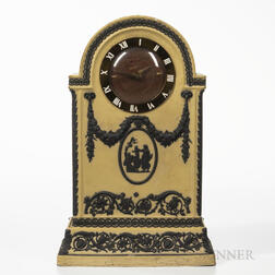 Wedgwood Yellow Jasper Dip Clock Case