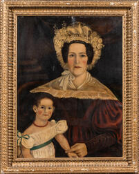 Framed Portrait of a Mother and Child