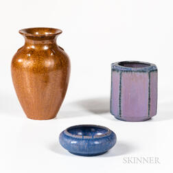 Three Pieces of Fulper Studio Pottery