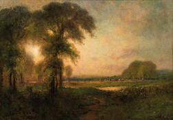 George Inness (American, 1825-1894)      Out to Pasture
