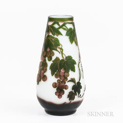 Galle-style Cameo Glass Vase