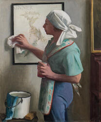 Margaret Fitzhugh Browne (American, 1884-1972)      Spring Cleaning