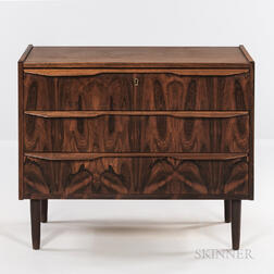 Danish Modern Three-drawer Chest.