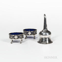 Three Pieces of Georgian Sterling Silver Tableware