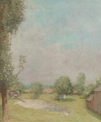 Julian Alden Weir (American, 1852-1919)      Farm Scene, Branchville, CT