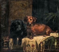 Arthur John Elsley (British, 1860-1952)      Punch and Carlo