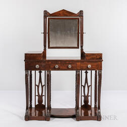 The Susan Bainbridge Classical Carved Mahogany and Mahogany Veneer Dressing Table
