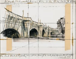 Christo (American, 1935-2020)      The Pont Neuf Wrapped/Project for Paris