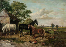 Attributed to John Frederick Herring Sr. (British, 1795-1865)      Farm Scene