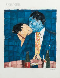 Richard Yarde (American, 1939-2011)      The Kiss