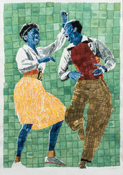 Richard Yarde (American, 1939-2011)      Leon and Willa Mae (The Spin)