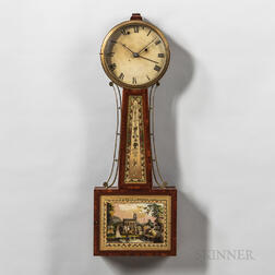 "Aaron Willard Jr. Patent Alarm Timepiece or ""Banjo"" Clock"