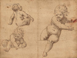Venetian School, 16th/17th Century      Three Studies of Infants