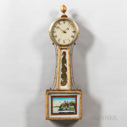 "Gilt-front Patent Timepiece or ""Banjo"" Clock"