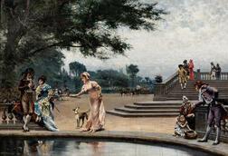 August Vilhelm Nikolaus Hagborg (Swedish, 1852-1921)      In the Tuileries