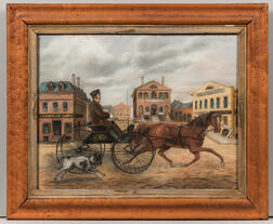American School, 19th Century      Horse and Buggy in Derby Square, Salem, Massachusetts