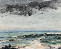 Léon Dabo (American, 1868-1960)      St. Tropez, Storm Light