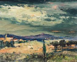 Léon Dabo (American, 1868-1960)      St. Tropez