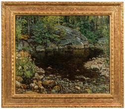 John Joseph Enneking (American, 1841-1916)      Bear River Trout Pond, North Newry, Maine