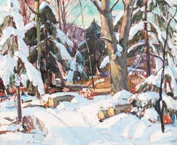 Carl William Peters (American, 1897 or 1898-1980)      Forest in Winter