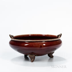 Flambe-glazed Tripod Censer