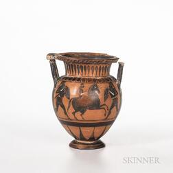 Ancient Greek/South Italian-style Black-figured Krater