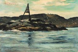 Andrew George Winter (American, 1892-1958)      Day Mark near Monhegan