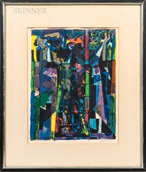 Abraham Rattner (American, 1895-1978)      Window Cleaner