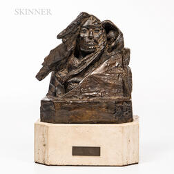 Harry Jackson (American, 1924-2011)      Sacagawea, Study for a Bust I