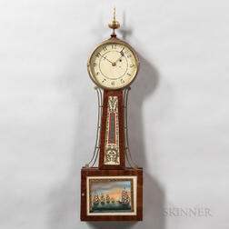 "New England A-frame ""Patent Timepiece"" or Banjo Clock"